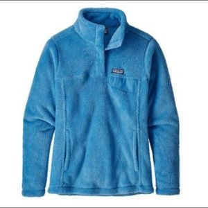 SALE Patagonia Women's Blue Snap T Fleece Pullover